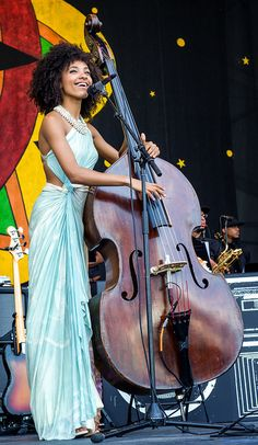 Esperanza Spalding ...looking gorgeous as ever!