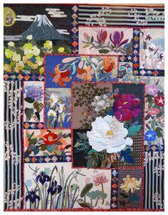 Quilt by Atsuko Ueguri.  Sainte Marie aux Mines 2014 quilt show. Photo by Le grenier de Mamounette.