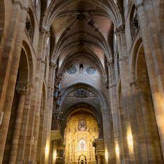 San Vicente Basilica Interior Avila Spain - Joan Carroll  via @redbubble #avila #spain #church #basilica #travel #tourism