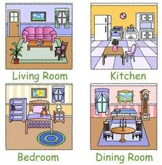 Room clipart my house - pin to your gallery. Explore what was found for the room clipart my house Flashcards For Kids, Worksheets For Kids, Teaching English, Learn English, House Clipart, English Lessons For Kids, English Activities, Teaching Aids, Preschool Activities