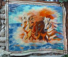 Felt TapestryFelt Cildren BlanketFelt Wall PictureFelt by RumiWay, $77.00