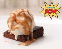 Protein Pow: Low Carb Protein Brownies with Vanilla Protein Ice Cream and Peanut Butter