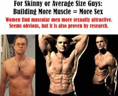 [How to build perfectly proportioned body for men ] Women find muscular men more sexually attractive. but it is also proven by research. For Skinny or Average Size Guys: Building More Muscle = More Sex #men #transformation #body #workout #fitness #sexy #model
