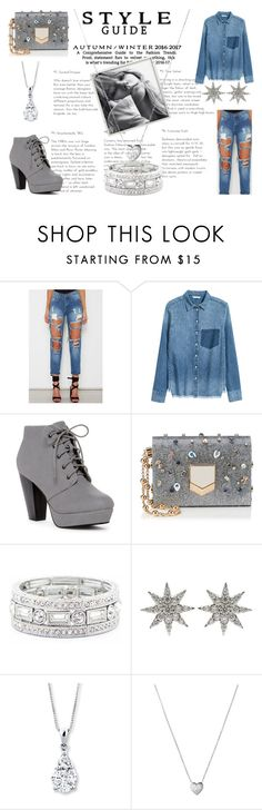"""Fancy Denim"" by tjedge ❤ liked on Polyvore featuring Jimmy Choo, Sole Society, Bee Goddess and Links of London"
