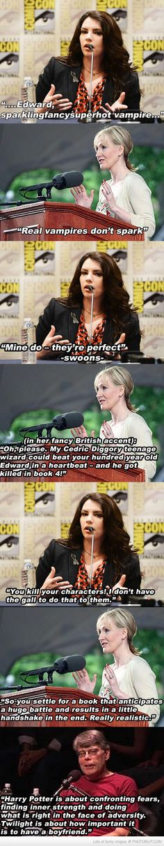 Stephanie Meyer And J.k. Rowling Debate