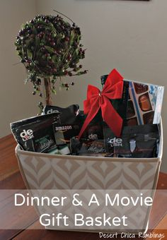 "Easy ""foodie"" dinner and movie gift basket! #HappyAllTheWay #shop #Cbias"