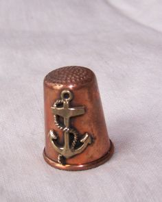 Sewing Thimble Nautical Copper Vintage by AbsoluteNecessity4u, $15.00