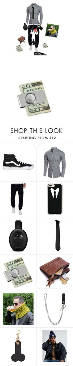 """""""Untitled #1"""" by dmitrios ❤ liked on Polyvore featuring Vans, Casetify, Calvin Klein, Versace, American Coin Treasures, Dsquared2, J.W. Anderson, Converse, men's fashion and menswear"""