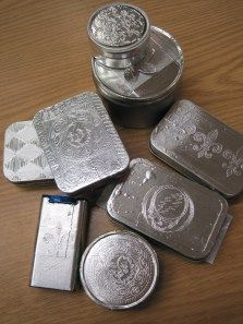 Embossed Tins (Altoid boxes. Will hold 6 small marble magnets or other treats)