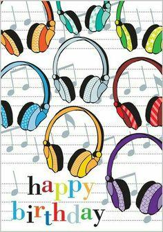 happy birthday ~ headphones for the music lover Happy Birthday Wishes Images, Birthday Poems, Vintage Birthday Cards, Birthday Wishes Cards, Happy Birthday Messages, Very Happy Birthday, Happy Birthday Greetings, Birthday Greeting Cards, 24 Birthday