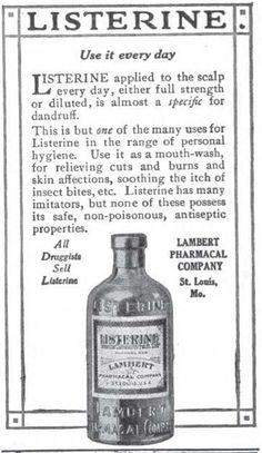 Listerine for dandruff