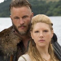 Vikings on History channel. Ragnor and Lagertha Lothbrok