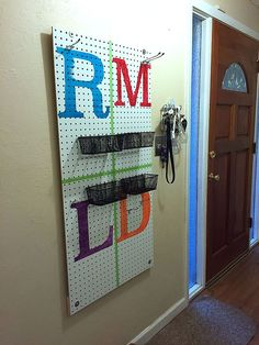 Sowdering About: Peg board entryway Entryway, Home And Garden, Boards, Organization, Frame, Mudroom, Home Decor, Coat, Entrance