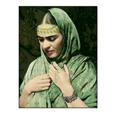 Frida Kahlo in Green Rebozo Shawl Poster Print by ARTDECADENCE