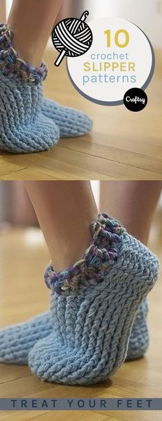 Keep your feet warm, cozy, and stylish this winter with a pair of fuzzy crochet slippers. Grab some yarn, crochet hooks and one of our free crochet slipper patterns to get started on your own pair!
