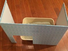 Cat Litter Box Screen; Helps keep dogs out of litter and gives cat privacy