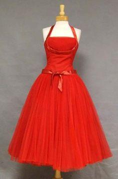 Dress  1950s  Vintageous