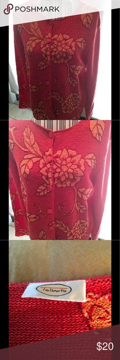 ‼️Talbots's Coral Sweater‼️ Beautiful soft attractive sweater in EUC. Size can fit large to extra large Talbots Sweaters Cardigans