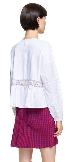READY TO WEAR White lace t-shirt WHITE