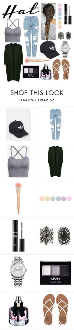 """""""Hat"""" by laurafca ❤ liked on Polyvore featuring adidas, Topshop, American Vintage, Deborah Lippmann, MAKE UP FOR EVER, New Look, Calvin Klein, NYX, Yves Saint Laurent and Billabong"""