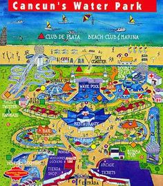 Map of Wet n Wild in Cancun, Mexico