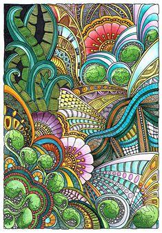 Floral Fantasia 31 July 2014 by Artwyrd.deviantart.com on @DeviantArt