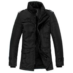 Winter Polyester Cotton Casual Jacket For Men. #MenJacket #MehdiGinger