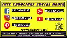 Follow IUIC Carolinas Social Media Pages!!! #blacks #hispanics #natives #israelites #socialmedia