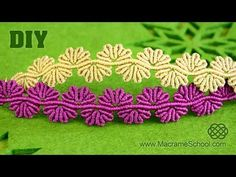 (4) Wavy Flower Lace Bracelet - Macrame Tutorial - YouTube