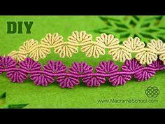 tutorial pulsera de hilos ancha pulseras faciles | frienships bracelets (macrame) - YouTube