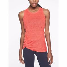 c1bee9acd2074 Athleta Coral 100% Linen Knot Zephyr Tank Top Size Small  fashion  clothing