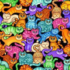 Colorful Kittens by Dan Morris | DecalGirl