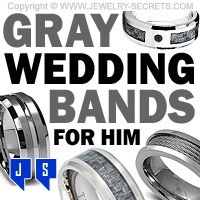 ►► GREAT GRAY WEDDING BANDS FOR HIM ►► Jewelry Secrets