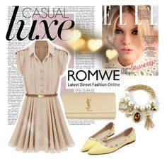 """Romwe 5 (IV)"" by lejlamoranjkic ❤ liked on Polyvore featuring CC SKYE, Yves Saint Laurent, women's clothing, women, female, woman, misses and juniors"