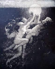 Arthur Prince Spear | Sunrise Water Nymphs 1920 - me & myself