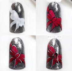 Trendy fails art step by step natale Ideas Nail Art Noel, Christmas Manicure, Xmas Nails, Winter Nail Art, Winter Nail Designs, Christmas Nail Designs, Cute Nail Designs, Christmas Nail Art, Holiday Nails