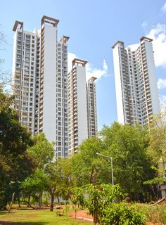 Runwal Anthurium, Mulund, Mumbai, India. 4 Towers rise above a Lush Green landscaped podium. Architecture by Kapadia Associates.