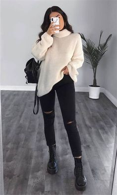 Trendy Fall Outfits, Winter Outfits Women, Casual Winter Outfits, Winter Fashion Outfits, Stylish Outfits, Winter Dresses, 70s Fashion, Korean Fashion, Women's Casual