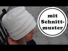 kuschliger Hut nähen aus Fleece - mit Schnittmuster in 3 Grössen - YouTube Fascinator, Headpiece, Headgear, Sewing Projects, Sewing Ideas, Baseball Hats, Youtube, Pattern, Beanie