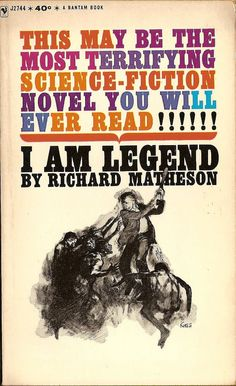 I Am Legend by RIchard Matheson.  My brother-in-law gave me this book to read.  Yikes!  Loved it!  Not at all like the movie!  Shame!