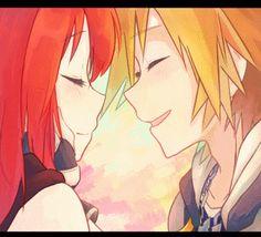 Kairi & Sora - super pretty line art