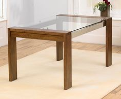 Dining Tables | Dining Table: Roma 200cm Walnut U0026 Glass Dining Table By Oak  U0026