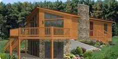 Excelsior Homes West, Inc. of MN offers the Stratford Homes Cedar Ridge, a cottage style modular home. We sell many styles of modular homes. Cottage Floor Plans, House Floor Plans, Cabin Homes, Log Homes, Stratford Homes, Modular Floor Plans, Wood Facade, Haus Am See, Cabin Plans