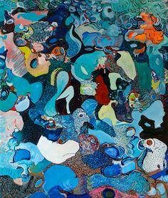 """Saatchi Online Artist Diana Roig; Painting, """"Oh Zee Aan"""" #art #DianaRoig"""