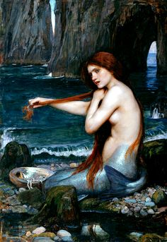 John William Waterhouse - A Mermaid, 1901