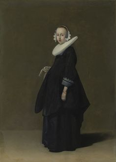 Gerard Ter Borch  (Dutch , 1617 - 1681)  A Dutch Lady    ca.1640    Oil on copper     20 x 14.875 in.    50.80 x 37.78 cm.    Adolph D. and Wilkins C. Williams Collection  49.11.27