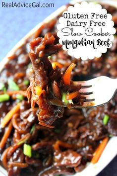 Looking for a gluten free dairy free meal everyone will love? Check out my Gluten Free Dairy Free Slow Cooker Mongolian Beef Recipe!