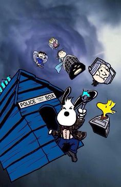 Snoopy & Dr Who, a match made in heaven!