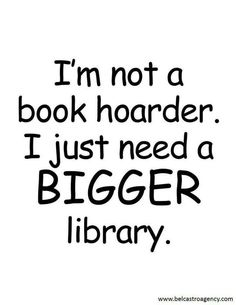 More book space, please!