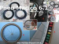 Foto: Pneu Maciço Alternativo versão 6.1 - Ideia de pneu de bicicleta sem câmara…